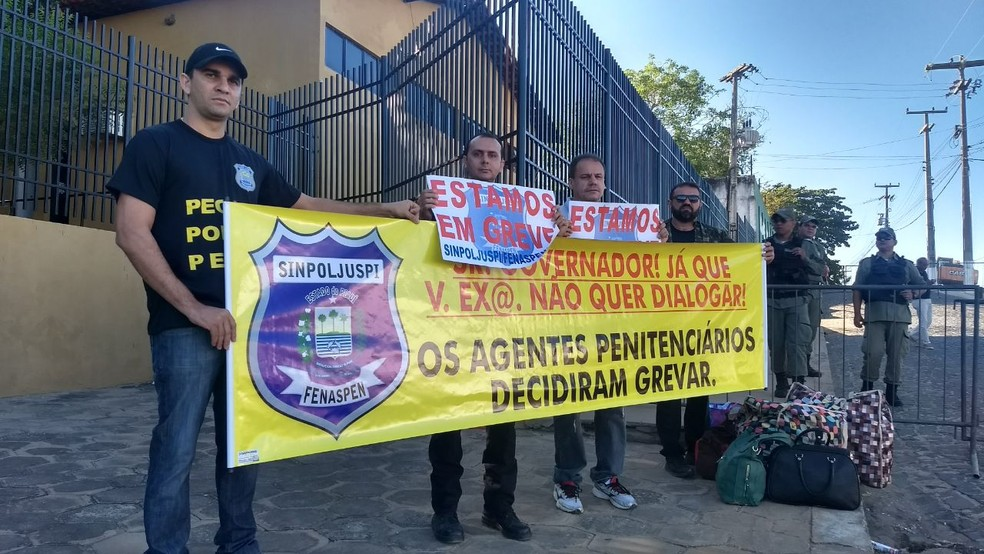 -  Agentes penitenciários iniciam greve por tempo indeterminado no Piauí  Foto: Divulgação/Sinpoljuspi