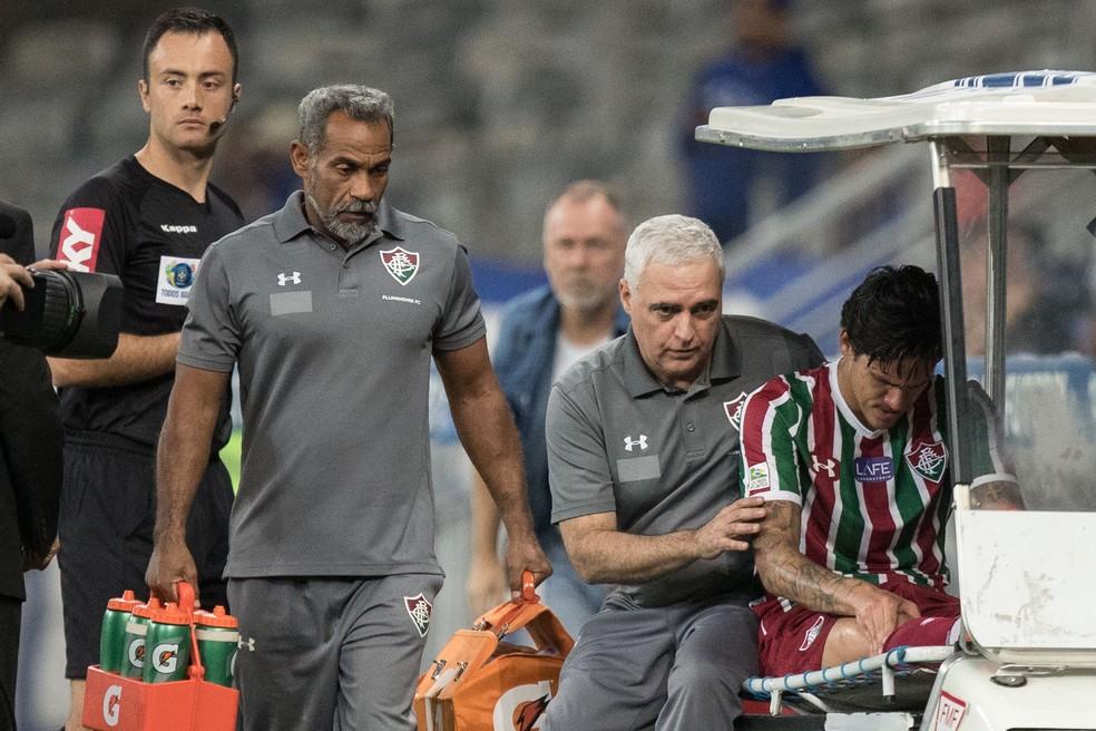 Pedro se machucou no fim de agosto e será operado na próxima sexta-feira — Foto: PEDRO VALE/AGIF/ESTADÃO CONTEÚDO