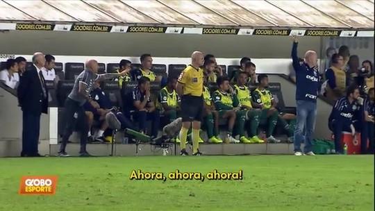 Veja as orientações e as broncas de Sampaoli e Mano durante Santos x Palmeiras