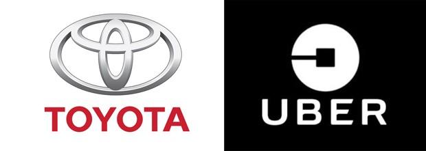 Logo Toyota e Uber (Foto: divulgação)