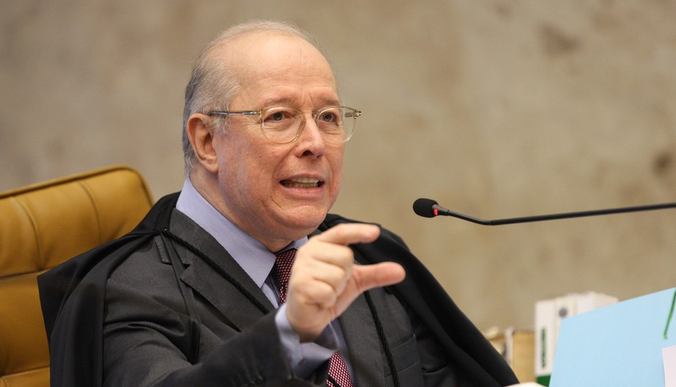 O ministro Celso de Mello na sessão desta quarta-feira (20) do STF — Foto: Nelson Jr./STF