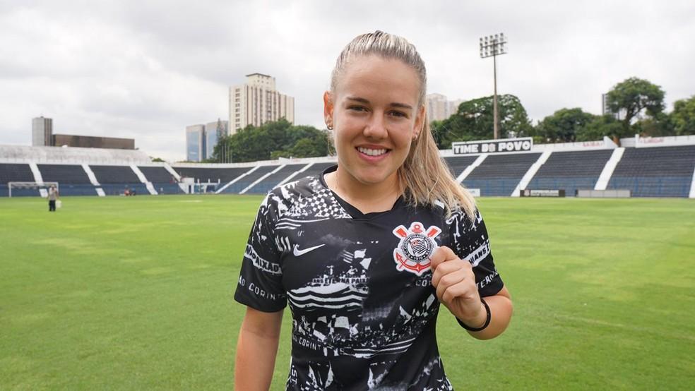 Andressinha acertou com o Corinthians para a temporada de 2020 — Foto: Divulgação/Corinthians