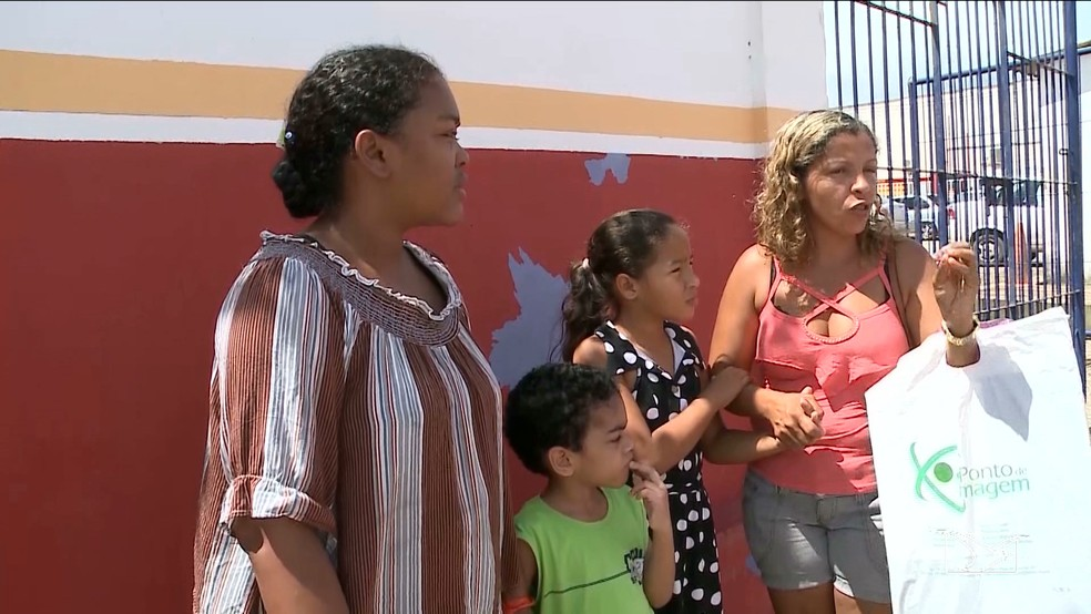 Mães que buscavam consulta de neuropediatria tiveram que voltar para casa frustradas em Paço do Lumiar (Foto: Reprodução/TV Mirante)