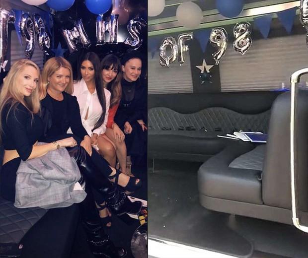 Kim Kardashian com amigas da escola (Foto: Reprodução / Instagram)