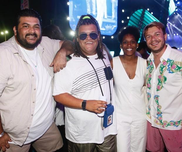 Dudu Farias, Gominho, Mahmundi e Thiago Fortes (Foto: Ed.Globo/Ricardo Cardoso)