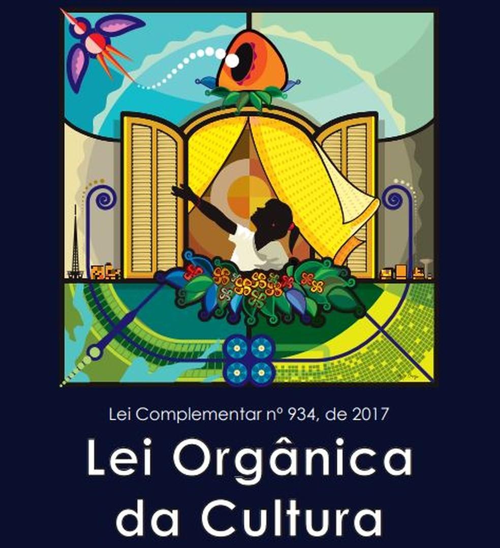 Lei Orgânica da Cultura (LOC) do Distrito Federal — Foto: LOC/Reprodução