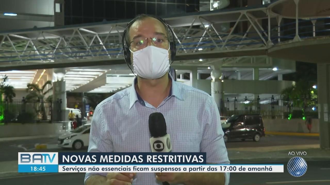 Covid-19: governador e prefeitos anunciam novas medidas restritivas na BA; veja detalhes