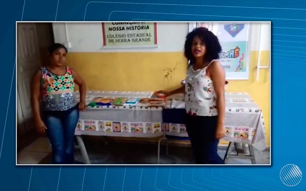 Estudantes de escola em Uruçuca dizem que estão levando comida de casa para ser feita na escola (Foto: Reprodução/TV Santa Cruz)