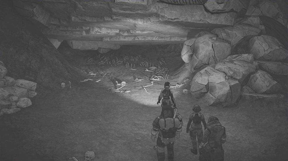 Ashwakers é um game sombrio de sobrevivência em um mundo pós-apocalíptico de cinzas destruído por vulcões — Foto: Reprodução/Steam