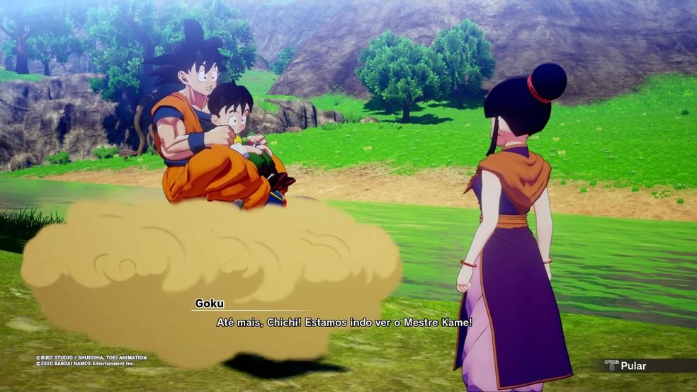 Interação com personagens é ponto alto de Dragon Ball Z: Kakarot — Foto: Reprodução/Felipe Vinha