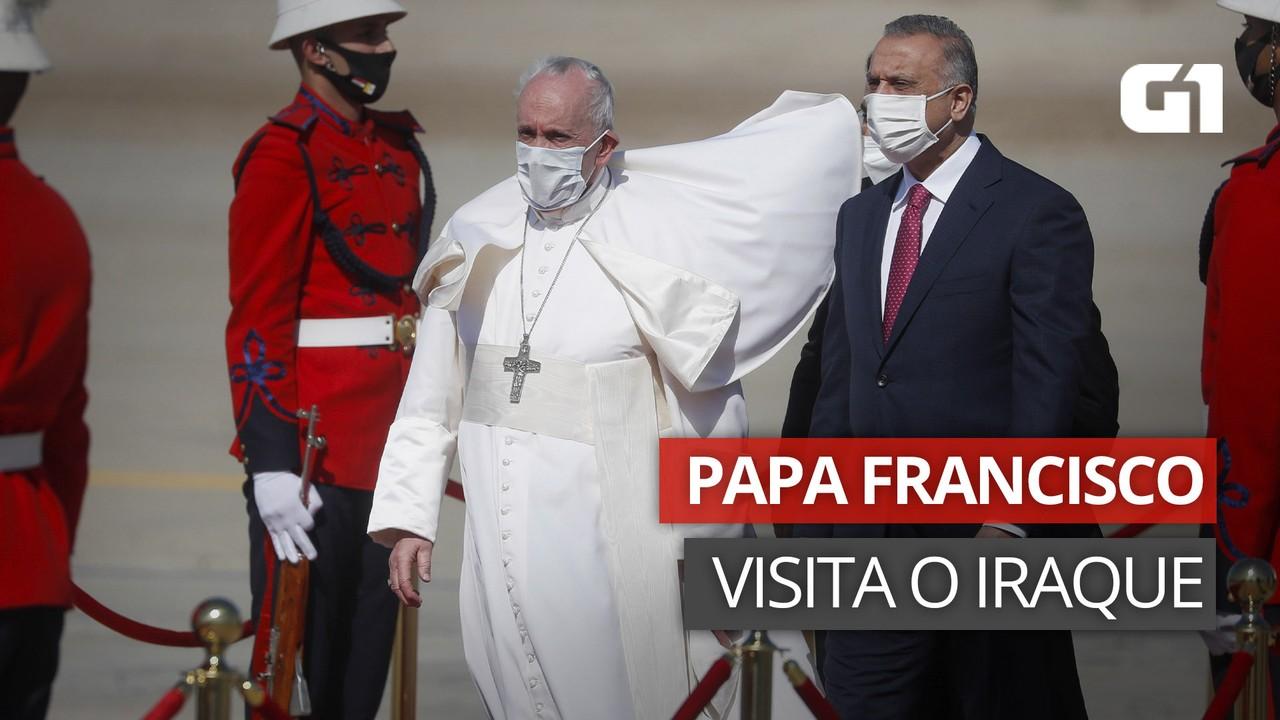 VÍDEO: Papa Francisco chega ao Iraque em meio à pandemia de Covid