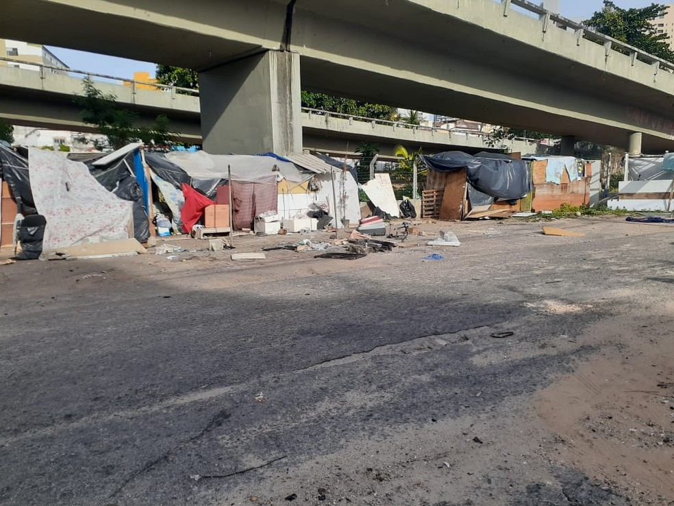Moradores de rua em Natal, RN — Foto: Julianne Barreto/Inter TV Cabugi