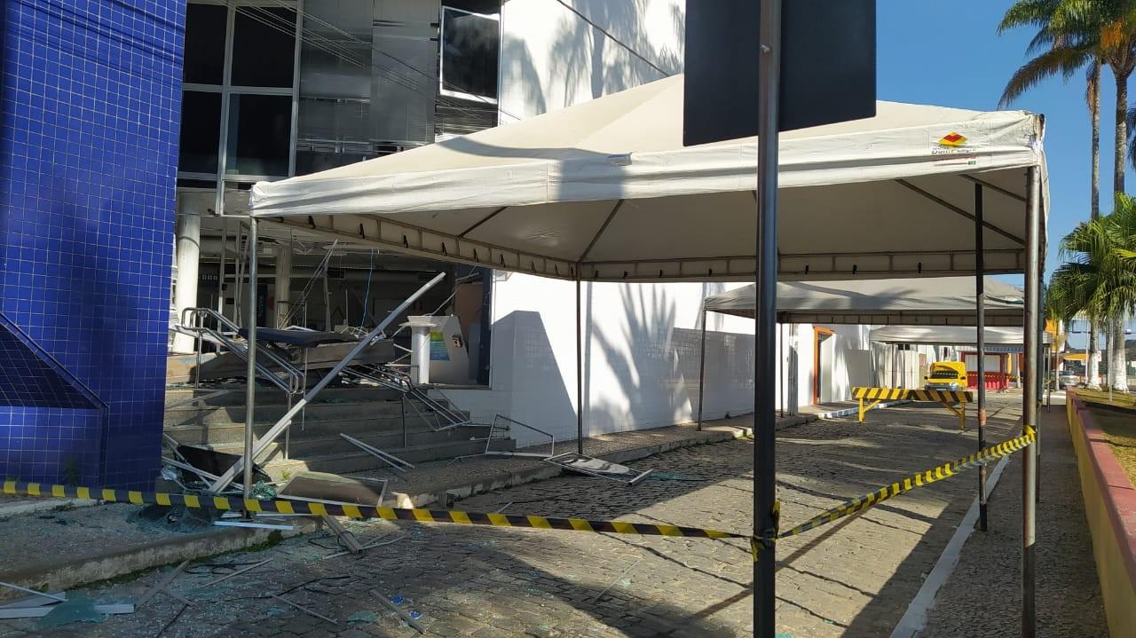 Quatro agências bancárias são alvo de ataques criminosos em Carandaí
