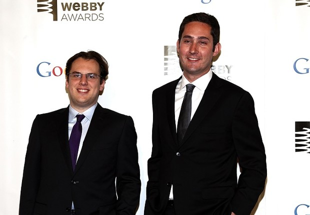 Kevin Systrom e Mike Krieger, cofundadores do Instagram (Foto: Paul Zimmerman/Getty Images)