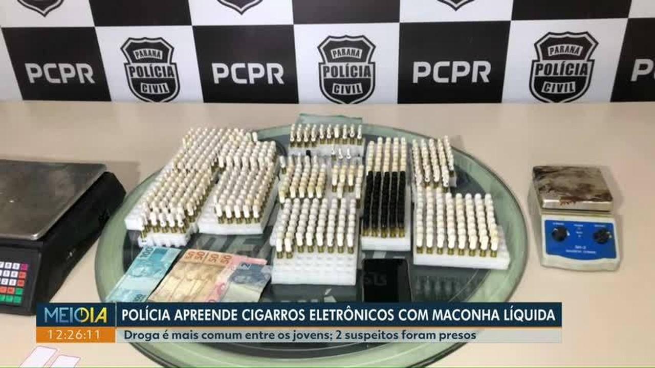Polícia apreende cigarros eletrônicos com maconha líquida
