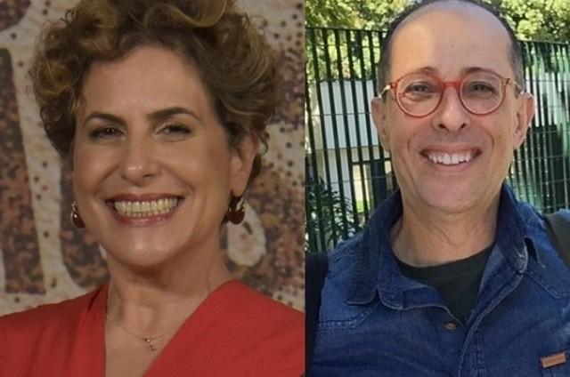 Duca Rachid e Júlio Fischer (Foto: Globo e reprodução de internet)