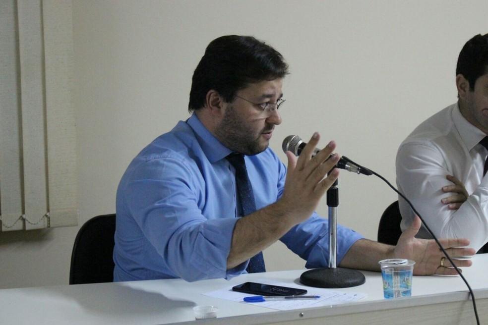 Augusto Chabloz, advogado do River-PI (Foto: Wenner Tito/GloboEsporte.com)