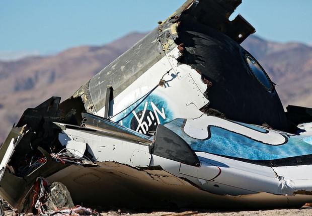 Nave da Virgin Galactic envolvida em acidente fatal em 2014 (Foto: Sandy Huffaker/Getty Images)