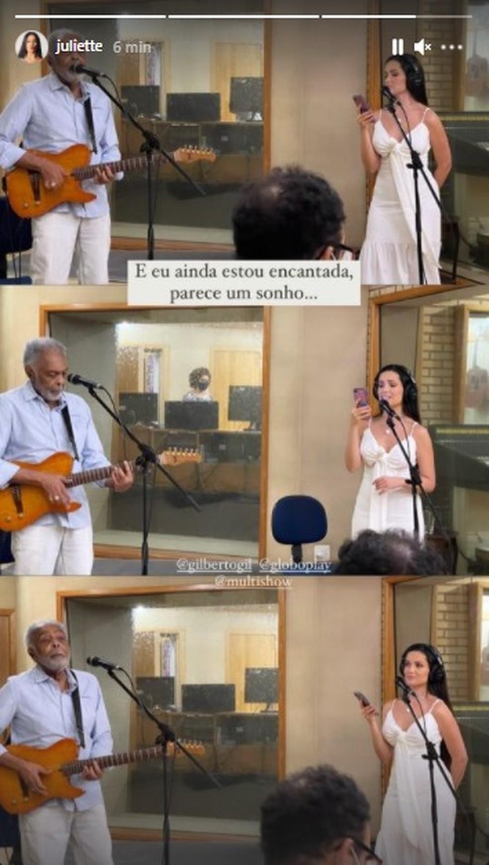 Juliette fará uma participação na live de Gilberto Gil no próximo dia 13/6 — Foto: reprodução Instagram