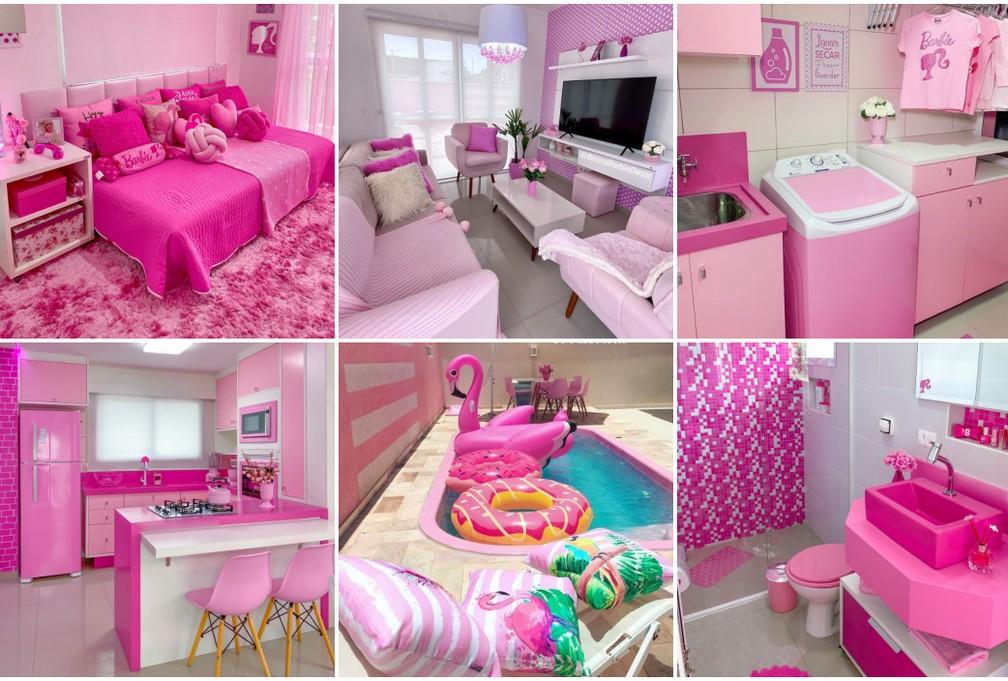 Casa demorou um ano para ficar pronta e o custo foi de mais de R$ 500 mil — Foto: Arquivo pessoal/Bruna Barbie