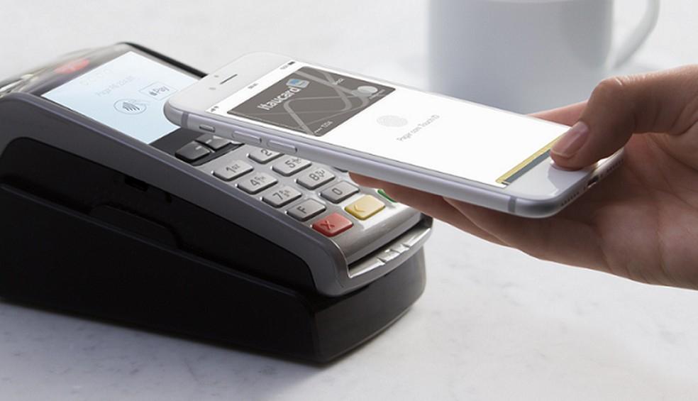 Apple Pay usa NFC para validar compras — Foto: Divulgação/Apple