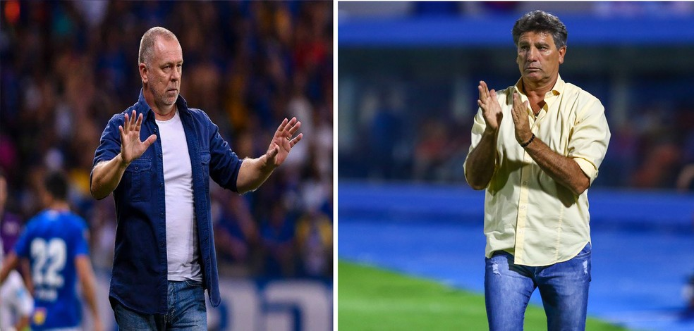 Mano Menezes e Renato Gaúcho são técnicos mais longevos entre os 20 da Série A (Foto: GloboEsporte.com)