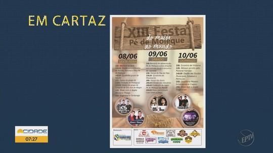 Fim de semana tem cinema, música e Festa do Pé de Moleque no Sul de Minas; veja agenda