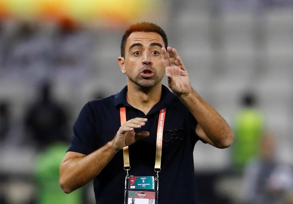 Xavi começou carreira de técnico no Al Sadd — Foto: Reuters