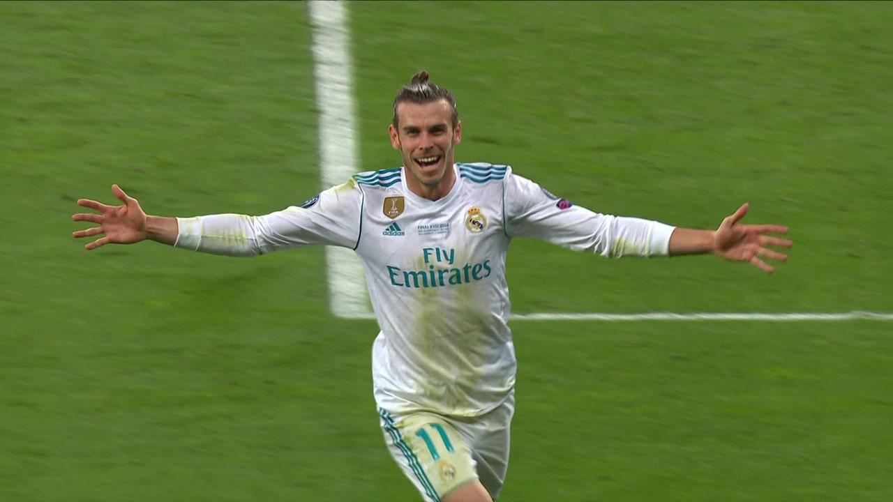 Gol do Real Madrid! Bale arrisca de longe, e Karius engole um frangão, aos 37' do 2º tempo