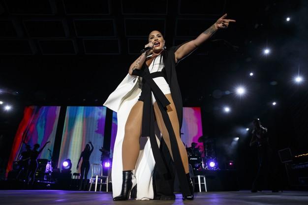 Demi Lovato no Rock in Rio Lisboa (Foto: Divulgação/Agência Zero)