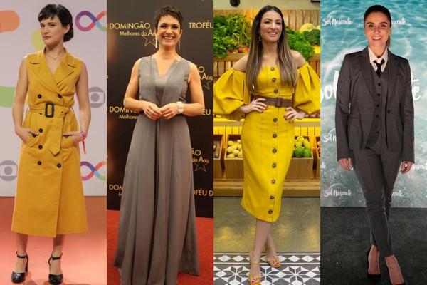 Cores de 2021: amarelo e cinza trazem força e esperança para o novo ano;  inspire-se nos looks das famosas! | Moda e Beleza | Gshow