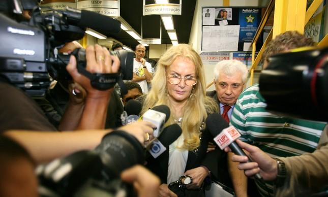 Vera Lucia Gomes ao depor delegacia, na época em que o caso veio a públco