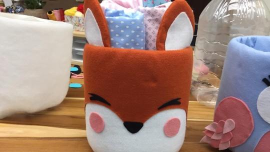 Imprima os moldes e decore o quarto do seu bebê com um lindo cachepô de raposa