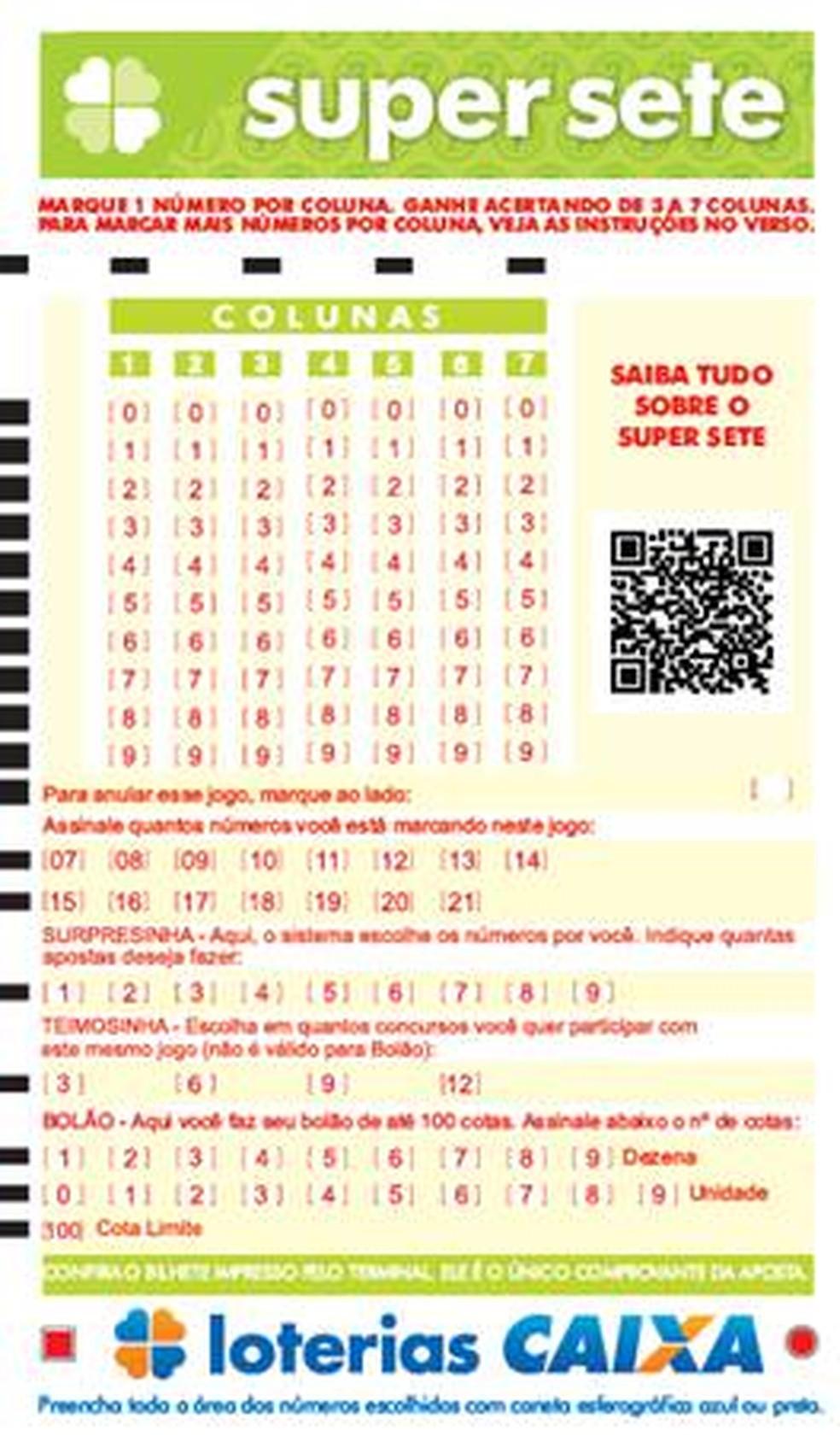 Caixa lança Super Sete, nova modalidade de loteria — Foto: Divulgaçao