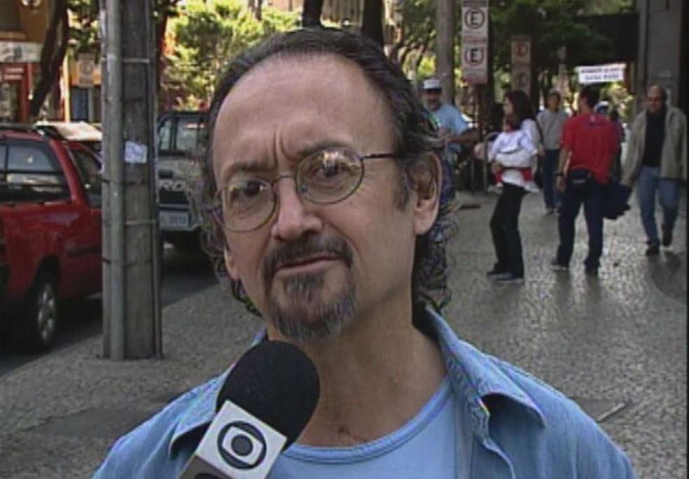 Cartunista Nani morre em Belo Horizonte — Foto: Reprodução/TV Globo