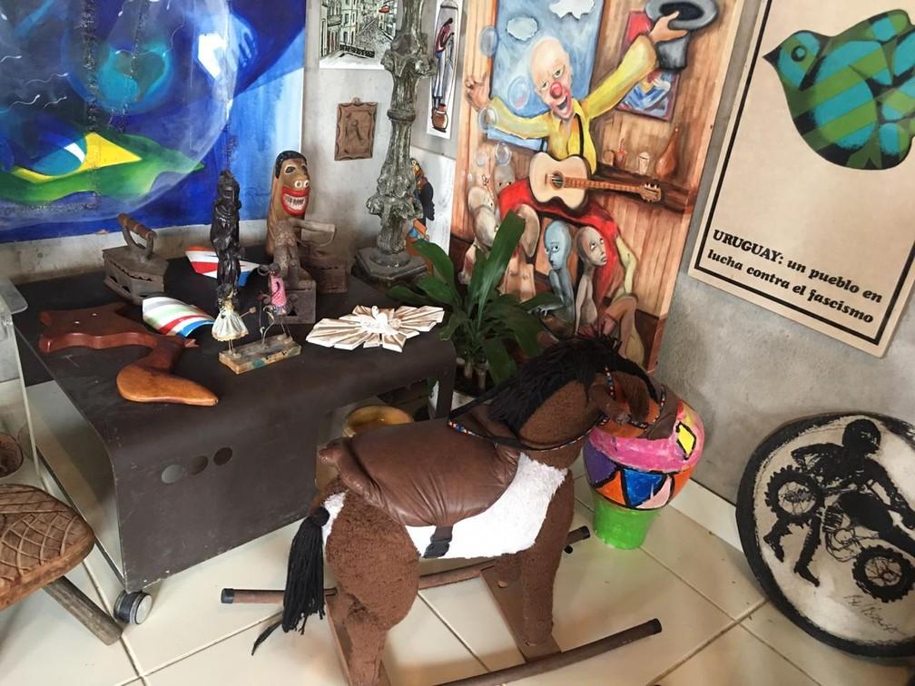 Museu criado pelo casal é colaborativo — Foto: João Souza/G1