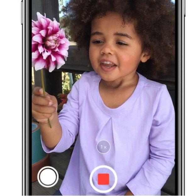 Se você tem um iPhone, deve tocar o ícone branco ao lado do ícone vermelho da gravação (Foto: Apple)