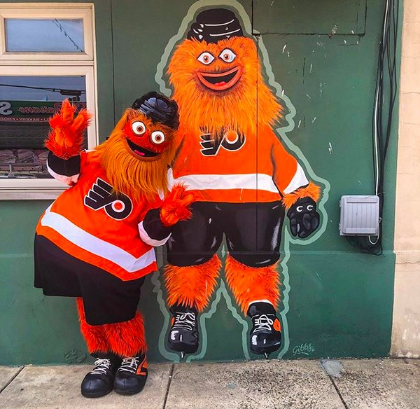 O mascote do time de hóquei Philadelphia Flyers, Gritty (Foto: Instagram)