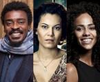 Seu Jorge, Hermila Guedes e Naruna Costa | Reprodução e TV Globo