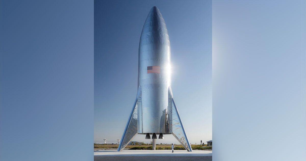 Foto da nave Starship é divulgada por Elon Musk (Foto: Divulgação)
