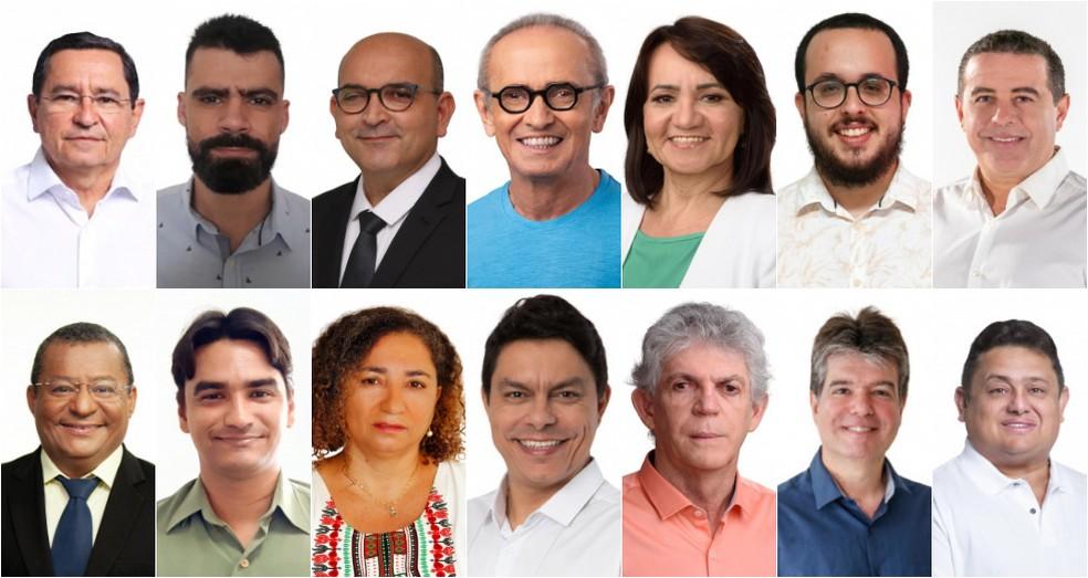Candidatos à Prefeitura de João Pessoa nas eleições 2020, em ordem alfabética — Foto: Arte/G1