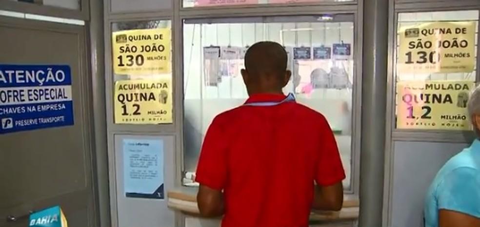 Contas da Coelba não podem mais ser pagas nas lotéricas (Foto: Reprodução/ TV Bahia)