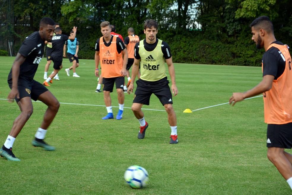 Rodrigo Caio tem treinado normalmente nesta semana (Foto: Érico Leonan/saopaulofc.net)
