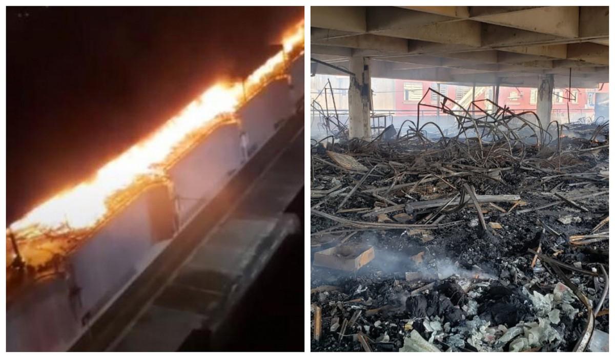Vigia de camelódromo destruído por incêndio diz à polícia que água de hidrante não saiu ao tentar apagar fogo