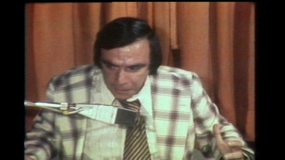 Jornalista e radialista Gil Gomes — Foto: Reprodução/TV Globo