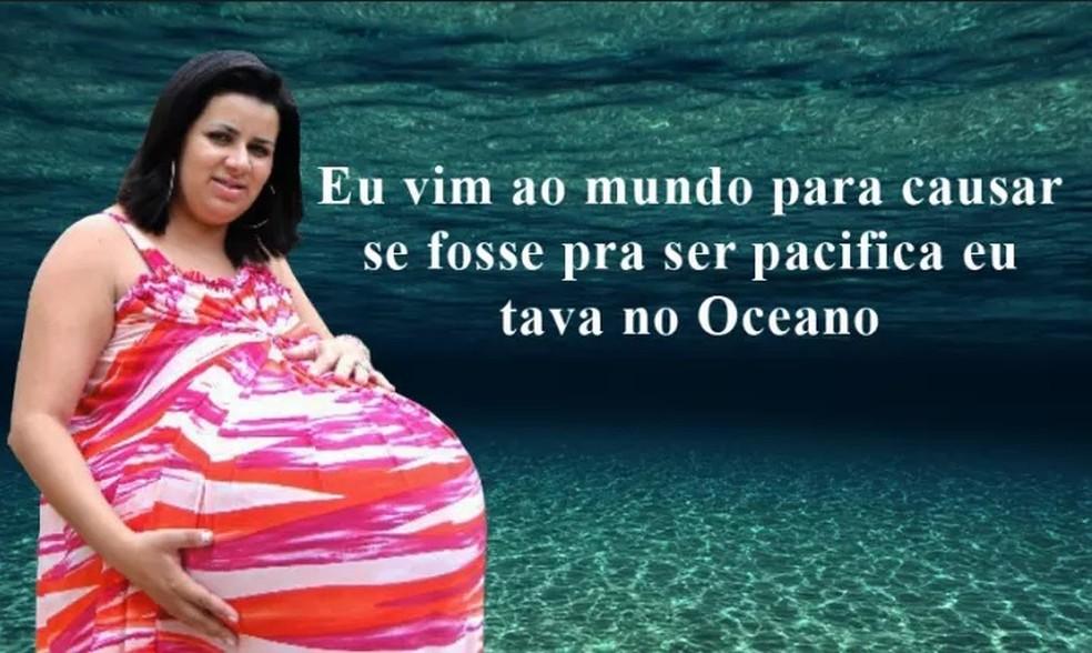 Grávida de Taubaté é a rainha dos memes na web (Foto: Reprodução/Facebook Grávida de Taubaté Reflexiva)