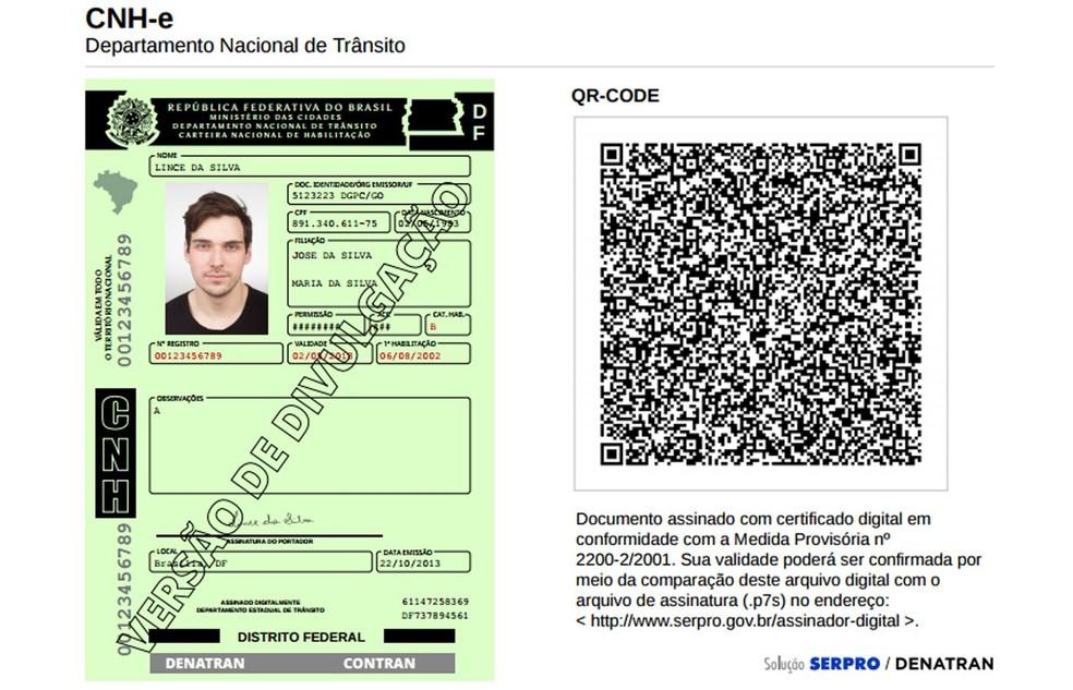 CNH digital (Foto: Divulgação)