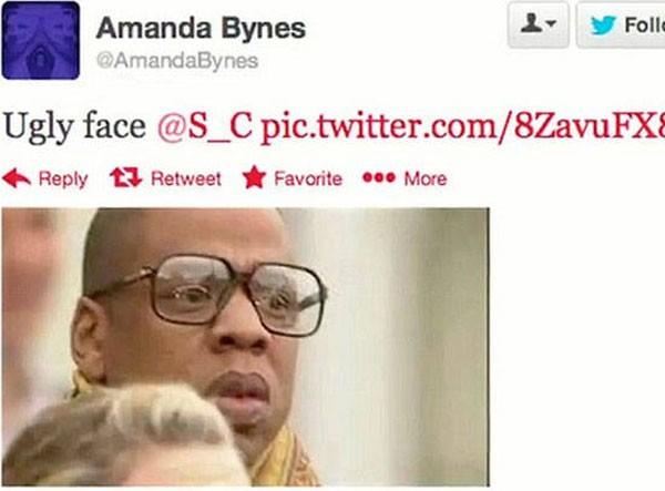 Postagem publicada por Amanda Bynes sobre Jay-Z (Foto: Reprodução)