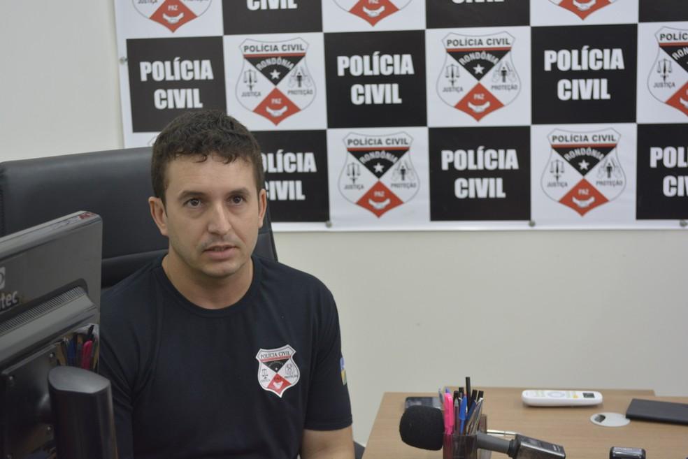 Delegado fala sobre operação em Ariquemes (Foto: Jeferson Carlos/G1)