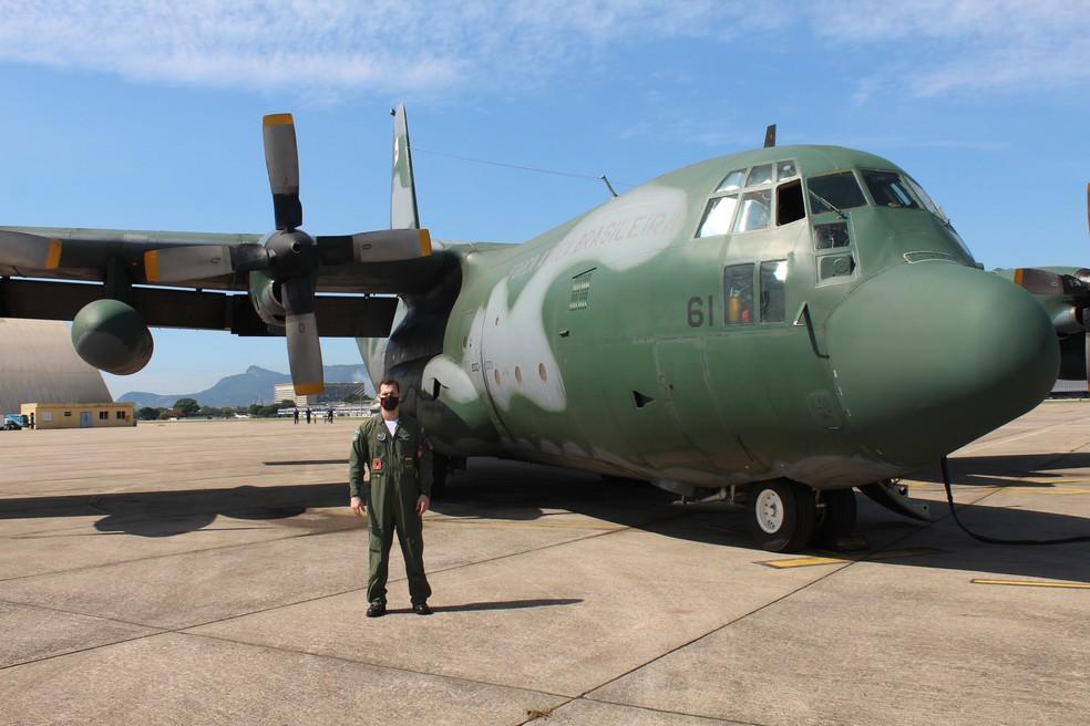 Capitão Italo Holanda De Oliveira, integrante do Esquadrão Gordo, da FAB — Foto: Wilhan Campos/FAB
